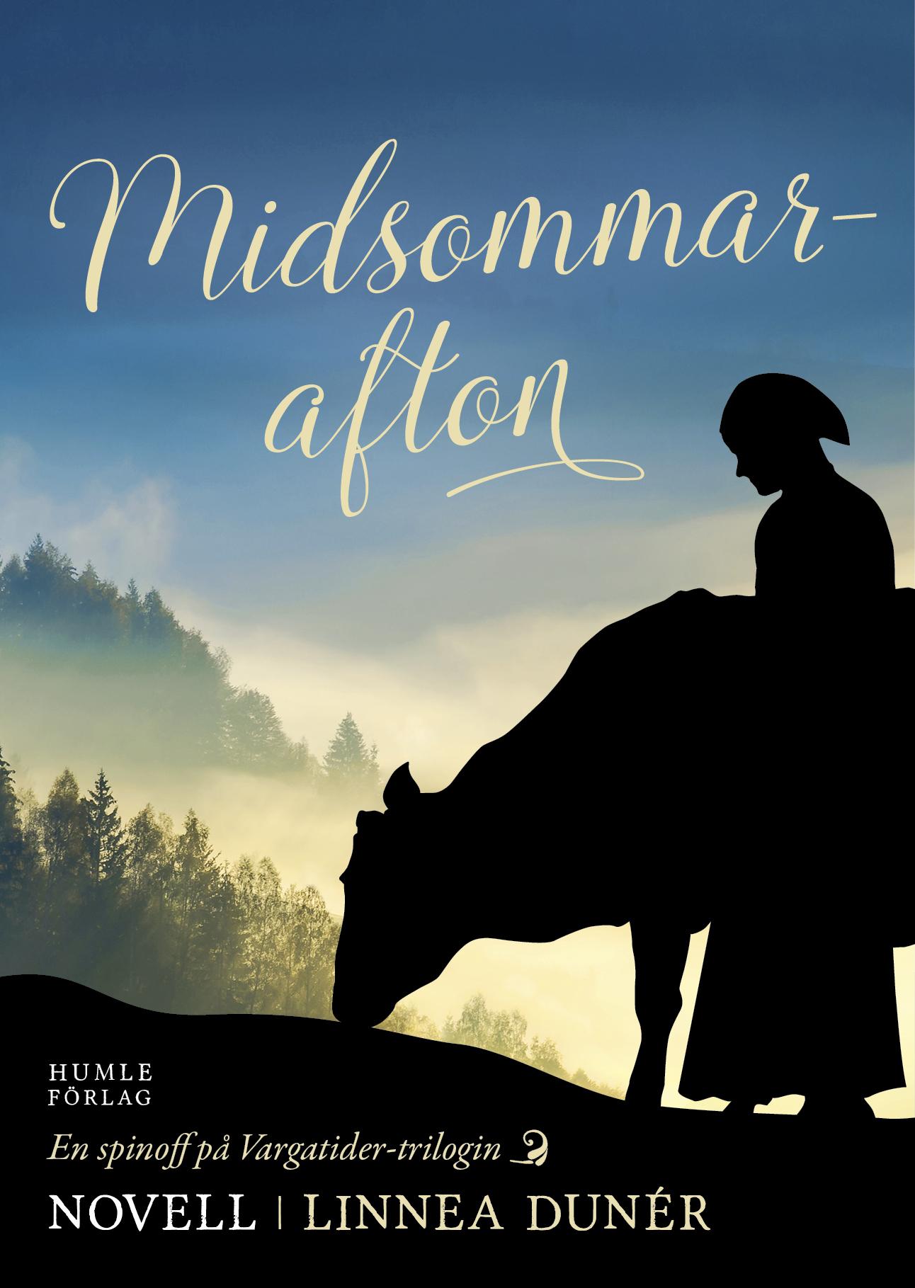 Framsidan på den historiska novellen Midsommarafton, en spin-off på Vargatider-serien