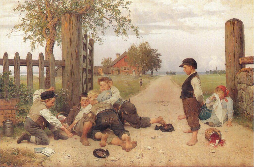 Målningen Grindslanten av August Malmström